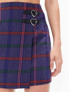 Getting Plaid Kilt Skirt di Lazy Oaf in vendita da Cloverfield Store