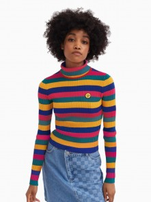 Crayon Stripe Fitted Knit Top di Lazy Oaf in vendita da Cloverfield Store
