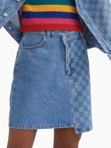 Patched Up Mini Skirt di Lazy Oaf in vendita da Cloverfield Store